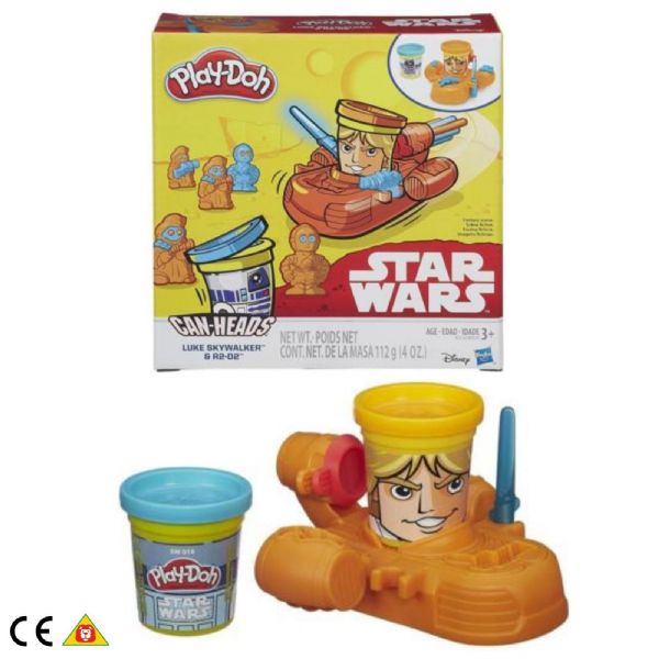 Play Doh Playdoh Star Wars Can-Heads Luke Skywalker & R2D2  Age 3+ Years B2536